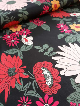 Viscose Marguerite Black