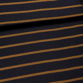 Tissu rayé jaune