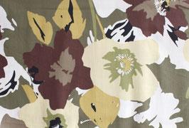 Satin de coton Flower Power - Vert
