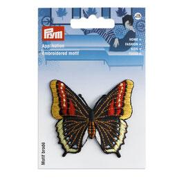 Appliqué papillon noir / multicolore