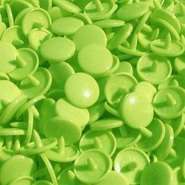 Pressions en plastique - col. vert lemon
