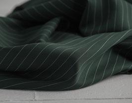 Tencel Pin Stripe Twill - Deep Green