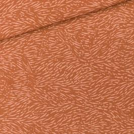 Viscose Flecks Amber Brown - Coupon de 1 m