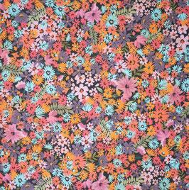 Lin-viscose fleurs d'été