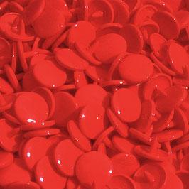 Pressions en plastique - col. rouge