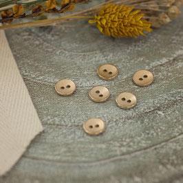 Bouton Métal texturé - Or doux