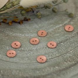 Bouton Métal texturé - Cuivre rosé
