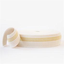 Ceinture élastique - 3 lignes dorées