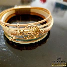 Armband mit goldenem Lebensbaum