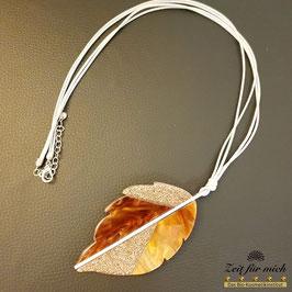 Halskette Blatt