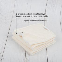 4 Schicht Bambus (Mikrofaser) Einlage