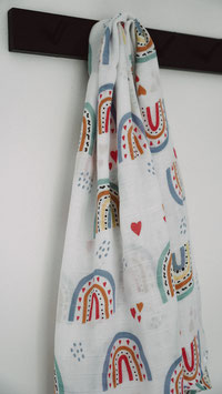 Swaddle Musselintuch Love Rainbow