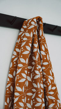 Swaddle Musselintuch Copper Leafy