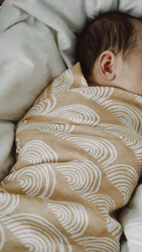 Swaddle Musselintuch Sand Rainbow