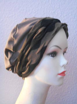 Turban taupe + Band vintage