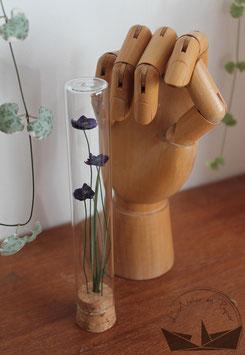 Fiole fleurs -  Violette