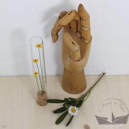 Fiole fleurs - Bouton d'or