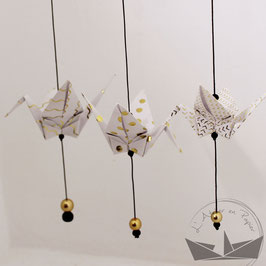 3 suspensions origami grues