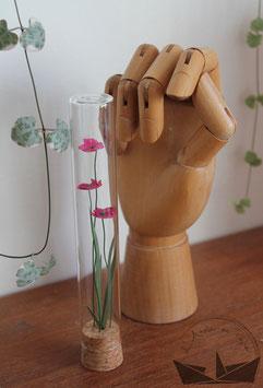 Fiole fleurs -  Fushia
