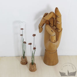 Fiole fleurs -  Moka