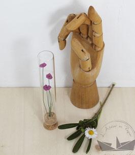 Fiole fleurs -  Cassis