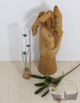 Fiole fleurs - Emeraude