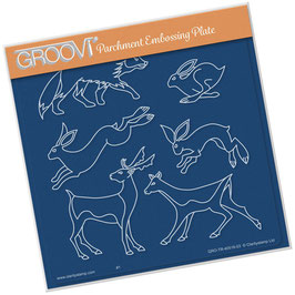 GROOVI PLATE - WOODLAND ANIMALS