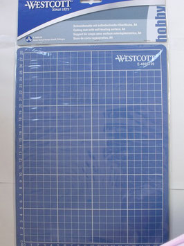 WESTCOTT  CUTTING MAT BLUE, 300mm X 220mm SELF REPAIRING