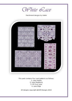 WHITE LACE PATTERN PACK BY ADELE