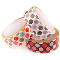 WASHI STYLE PAPER TAPE - NO 8 DOTS