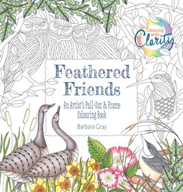 COLOURING WITH CLARITY - FEATHERED FRIENDS COLOURING BOOK