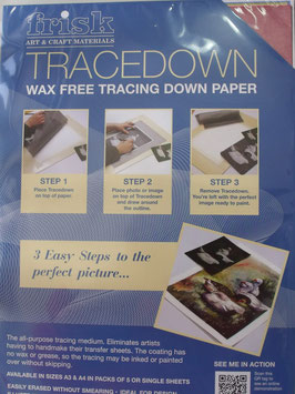 TRACEDOWN TRANSFER PAPER A4 5 SHEETS (ASSORTED)