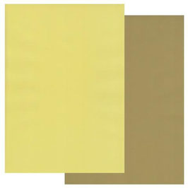 GROOVI TWO TONE A4 COLOURED PARCHMENT CRAFT PAPER- OLIVE GREEN / PRIMROSE YELLOW 10 SHEETS