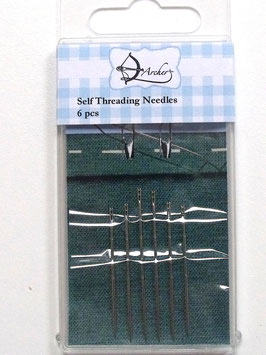 SELF THREADING NEEDLES (6PCS)