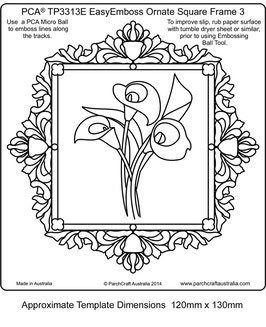 PCA EASY EMBOSSING ORNATE SQUARE FRAME 2