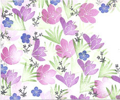 MAJESTIX PEG STAMPS - CROCUS GARDEN