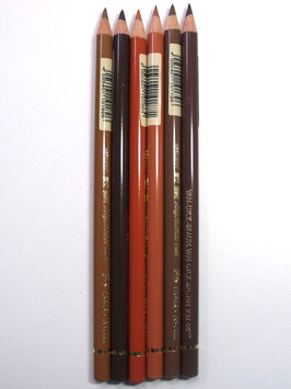 FABER CASTELL BUNDLE OF 6 BROWN SELECTION