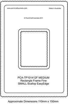 PCA TEMPLATE GUIDE FOR A MEDIUM SCALLOP EDGE RECTANGLE (FINE)