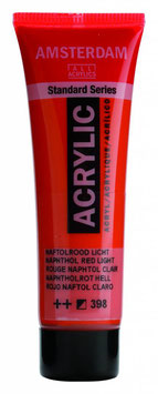 AMSTERDAM ACRYLICS 20ML - NAPHTHOL LIGHT RED