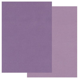 GROOVI TWO TONE A5 COLOURED PARCHMENT CRAFT PAPER- PURPLE 20 SHEETS