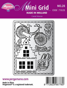 PERGAMANO MINI GRID 28 - CANAL HOUSE FROM THE MADE IN HOLLAND COLLECTION
