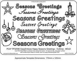 PCA WORD TEMPLATE  'SEASONS GREETINGS' OUTLINES BOLD