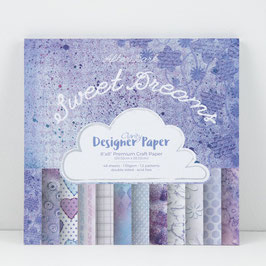 "SWEET DREAMS DESIGNER PAPER 8"" X 8"" 48 SHEETS"