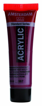 AMSTERDAM ACRYLICS 20ML - PERMANENT RED VIOLET