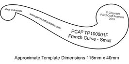 PCA TEMPLATE - FRENCH CURVE (PLAIN EDGE) SMALL