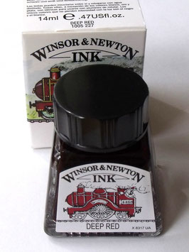 WINSOR AND NEWTON INK - DEEP RED 14ml