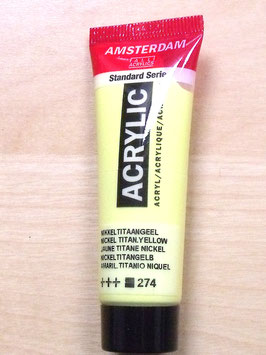 AMSTERDAM ACRYLICS 20ML - NICKEL TITAN YELLOW 274