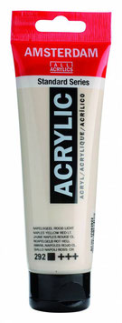 AMSTERDAM ACRYLIC PAINT -  NAPLES YELLOW RED LIGHT 120ml