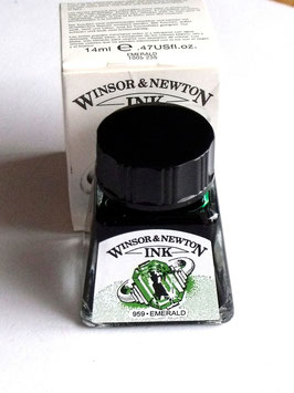 WINSOR AND NEWTON INK - EMERALD 14ml