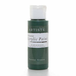 DOCRAFTS ARTISTE ACRYLIC PAINT 2OZ - FOREST GREEN